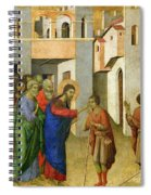 Jesus Opens The Eyes Of A Man Born Blind Spiral Notebook