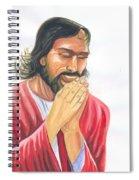 Jesus Praying Spiral Notebook