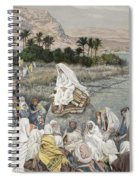 Jesus Preaching By The Seashore Spiral Notebook