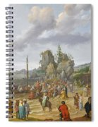 Jesus Preaching On The Shores Of The Sea Of Galilee Spiral Notebook