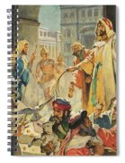 Jesus Removing The Money Lenders From The Temple Spiral Notebook