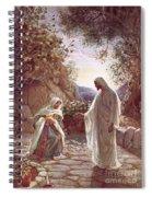 Jesus Revealing Himself To Mary Magdalene Spiral Notebook