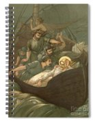 Jesus Sleeping During The Storm Spiral Notebook