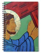 Jesus Takes Up His Cross Spiral Notebook