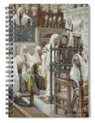 Jesus Unrolls The Book In The Synagogue Spiral Notebook