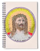 Jesus With The Crown Of Thorns Spiral Notebook