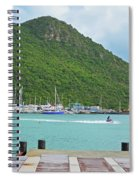Jet Ski On The Lagoon Caribbean St Martin Spiral Notebook