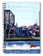 Jet Skiing By Colgate Clock Spiral Notebook
