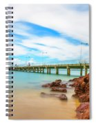 Jetty By The Sea Spiral Notebook