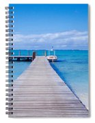 Jetty On The Beach, Mauritius Spiral Notebook