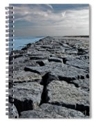 Jetty Over The Coast Spiral Notebook
