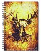 Jewel Deer Head Art Spiral Notebook