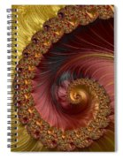 Jewel Gold  Fractal Spiral  Spiral Notebook