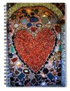 Jewel Heart Spiral Notebook