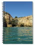 Jewel Toned Ocean Art - Gliding By Sea Caves And Secluded Beaches Spiral Notebook