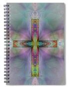 Jeweled Cross Spiral Notebook