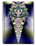 Jeweled Icicle Fractal 136 Spiral Notebook