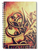 Jewelry Love Background Spiral Notebook