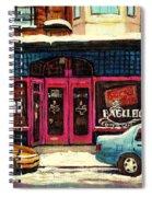 Jewish Montreal By Streetscene Artist Carole Spandau Spiral Notebook
