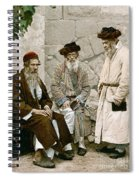 Jews In Jerusalem, C1900 Spiral Notebook