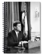 Jfk Addresses The Nation Painting Spiral Notebook
