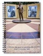 Jfk Tribute Fort Worth Spiral Notebook