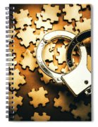 Jigsaw Of Misconduct Bribery And Entanglement Spiral Notebook