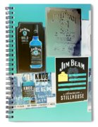 Jim Beam Signs On Display - Color Invert Spiral Notebook