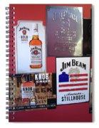 Jim Beam Signs On Display Spiral Notebook