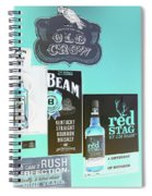 Jim Beam's Old Crow And Red Stag Signs - Color Invert Spiral Notebook