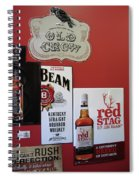 Jim Beam's Old Crow And Red Stag Signs Spiral Notebook