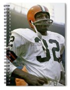 Jim Brown, Cleveland Browns, Signed Spiral Notebook