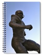 The Jim Brown Statue, Cleveland Browns Nfl Football Club, Cleveland, Ohio, Usa Spiral Notebook