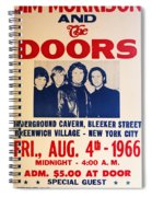 Jim Morrison And The Doors Poster Collection 3 Spiral Notebook