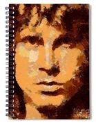 Jim Morrison - Digital Art Spiral Notebook