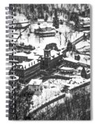 Jim Thorpe Pennsylvania In Winter In Black And White Spiral Notebook