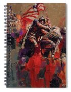 Jima Memorial Washington Dc Spiral Notebook