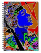 Jimi In Heaven Colorful Spiral Notebook