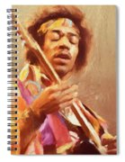 Jimi Jamming Spiral Notebook