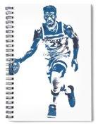 Jimmy Butler Minnesota Timberwolves Pixel Art 5 Spiral Notebook