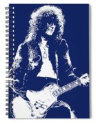 Jimmy Page In Blue Portrait Spiral Notebook