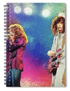 Jimmy Page - Robert Plant Spiral Notebook