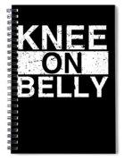 Jiu Jitsu Bjj Knee On Belly Light Spiral Notebook
