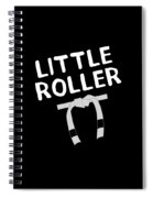 Jiu Jitsu Bjj Little Roller White Light Spiral Notebook