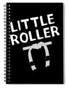 Jiu Jitsu Bjj Little Roller White Light Spiral Notebook