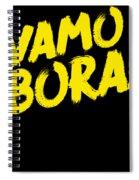 Jiu Jitsu Design Vamo Bora Yellow Light Martial Arts Spiral Notebook