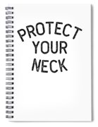 Jiu Jitsu Protect Your Neck Dark Jujitsu Bjj Gift Dark Spiral Notebook