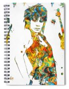 Joan Jett Colorful Paint Splatter Spiral Notebook