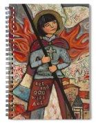 Joan Of Arc Spiral Notebook