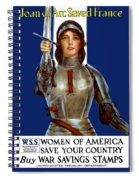 Joan Of Arc Saved France - Save Your Country Spiral Notebook